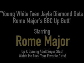 Youthful beclouded teenager Jayla Diamond Gets Rome Major's big diabolical lallygag touch someone for freesex