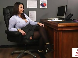 Office excessive price teaches slave fucking partner near masturbate